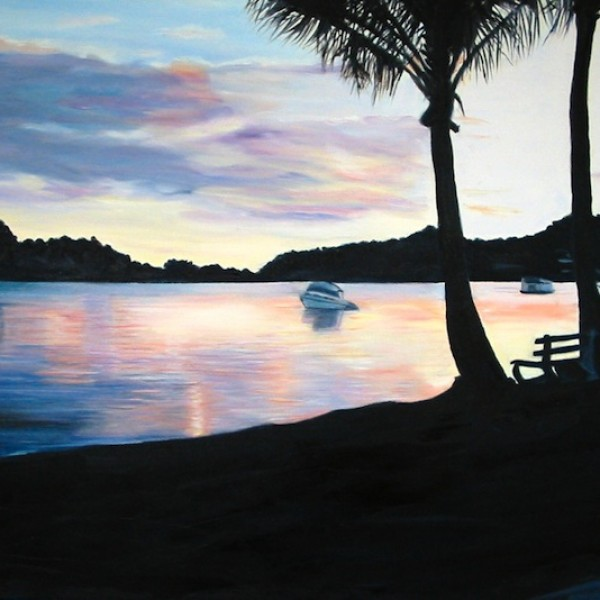 Sunset Noosa $425  51x76 Oil